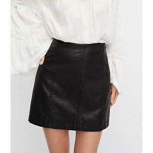 FREE PEOPLE modern femme vegan leather skirt 6